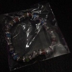 Multi color evil eye bracelet